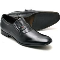 Sapato Social Couro Reta Oposta Confort Masculino - Masculino-Preto
