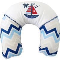 Almofada Amamentação Minasrey Marinheiro Chevron Azul