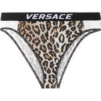 Versace Calcinha Animal Print - Marrom