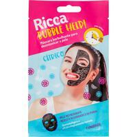 Máscara Facial Ricca Borbulhante Para Detox Da Pele Bubble Help! 28G