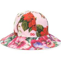 Dolce & Gabbana Kids Chapéu Com Estampa Floral - Rosa