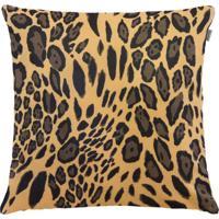 Capa Para Almofada Pele De Animal 60X60Cm Leopardo