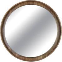 Espelho Martis Moldura Revestido Em Lamina Nogueira 45 Cm (Larg) - 43560 - Sun House