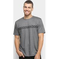 Camiseta Hd Especial Grid Masculina - Masculino-Cinza