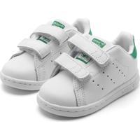 Tênis Couro Adidas Originals Menino Stan Smith Cf I Branco