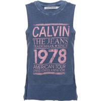 Blusa Sm Ckj Calvin The Jeans 1978 - Azul Médio - 8