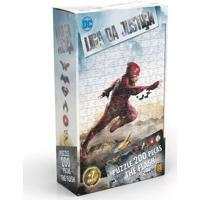 Quebra-Cabeça - 200 Peças - Dc Comics - Liga Da Justiça - The Flash - O Filme - Grow