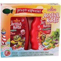 Shampoo + Condicionador Acqua Kids Cabelos Lisos Finos Ph Neutro Fios Macios Hidratados 250Ml