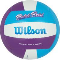 Bola De Vôlei Wilson Match Point - Roxo/Azul Cla