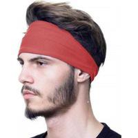 Bandana Headband Proteção Uv50+ Esportes Faixa Touca Slim Fitness - Masculino-Vermelho