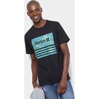 Camiseta Hurley Silk Bordeline Masculina - Masculino-Preto