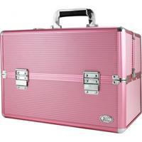 Maleta Profissional De Maquiagem Grande Jacki Design Beauty Rosa