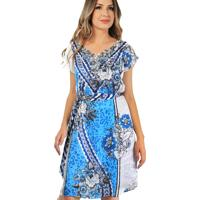 Vestido 101 Resort Wear Com Renda Estampado