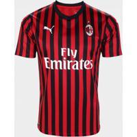 Camisa Masculina Puma Ac Milan Home Shirt S/N 19/20 Torcedor