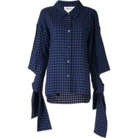Portspure Camisa Xadrez Com Amarração Nos Punhos - Azul