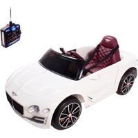 Carro Infantil Eletrico Bentley Exp12 6V Bel Com Controle Remoto - Unissex-Branco