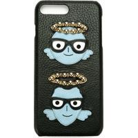 Dolce & Gabbana Capa De Couro Para Iphone 7 Plus - Preto