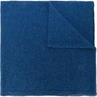 Dell'Oglio Cachecol Liso De Cashmere - Azul