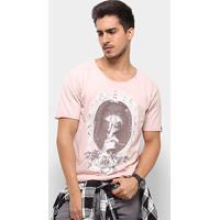 Camiseta Bossa Brasil Mirror Masculina - Masculino-Nude