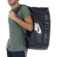 Mala Nike Brasilia Com Alça - 60 Litros - Preto/Branco