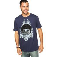 Camiseta Mcd Pistão Azul-Marinho