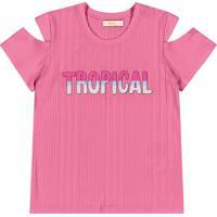 Blusa Cravina Infantil Rosa