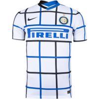 Camisa Inter De Milão Ii 20/21 Nike - Masculina - Branco/Preto