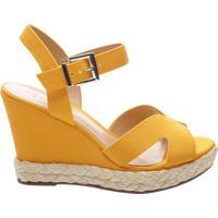 Sandália Anabela Yellow   Schutz