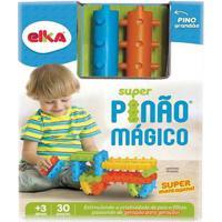 Blocos De Montar - Super Pinão Mágico - 30 Peças - Elka