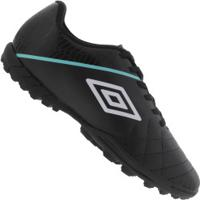 Chuteira Society Umbro Medusae Iii League Tf - Adulto - Preto/Branco