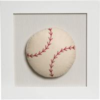 Quadro Decorativo Bola Beisebol Potinho De Mel Bege