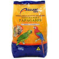 Ração Para Pássaros Pássaro Forte Mistura Para Papagaios Com Frutas Araras E Cacatuas 500G
