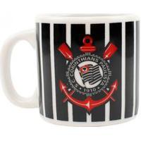 Caneca De Porcelana Corinthians 120Ml Oficial