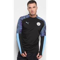 Blusa Manchester City Puma Meio Zíper Masculina - Masculino