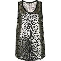 Dolce & Gabbana Blusa Animal Print - Dourado