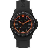 Relógio Nautica Masculino Borracha Preta - Napmau008