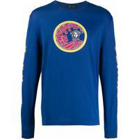 Versace Moletom Com Estampa 'Medusa' - Azul