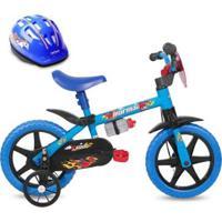 Bicicleta Infantil Aro 12 Kids Mormaii Com Capacete - Unissex