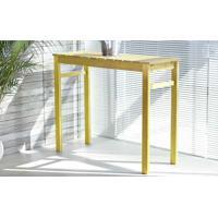 Mesa Bistrô De Madeira Quadra 119X43,5X95Cm Stain Amarelo