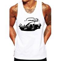 Camiseta Regata Criativa Urbana Fusca Carro Antigo Clássico - Masculino-Branco