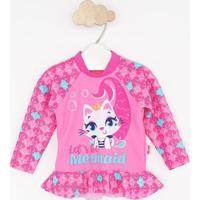"""Blusa """"Let'S Be Mermaid""""- Rosa & Pinkpuket"""