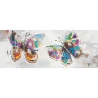 Quadro Pintura 2 Butterflies 70X180 Fullway