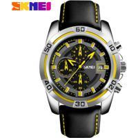Relógio Masculino Skmei Chornograph Multicolor Dial - 9156 - Amarelo