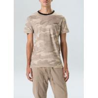 T-Shirt Pocket Canhamo Camuflado-Areia/Chino