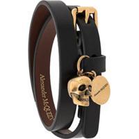 Alexander Mcqueen Double Wrap Bracelet - Preto
