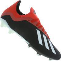 Chuteira De Campo Adidas X 18.3 Fg - Adulto - Preto/Vermelho