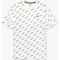 Camiseta Lacoste Live Masculina - Masculino-Branco+Azul