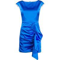 P.A.R.O.S.H. Vestido De Festa Com Babados - Azul