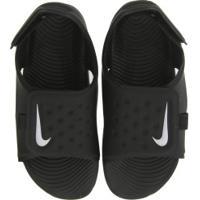Papete Para Bebê Nike Sunray Adjust 5 Td - Infantil - Preto/Branco