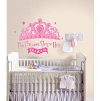 Adesivos De Parede Roommates Colorido Princess Sleeps Here Peel & Stick Giant Wall Decal W E Personalization